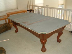 Proper pool table moving process in Biloxi Mississippi